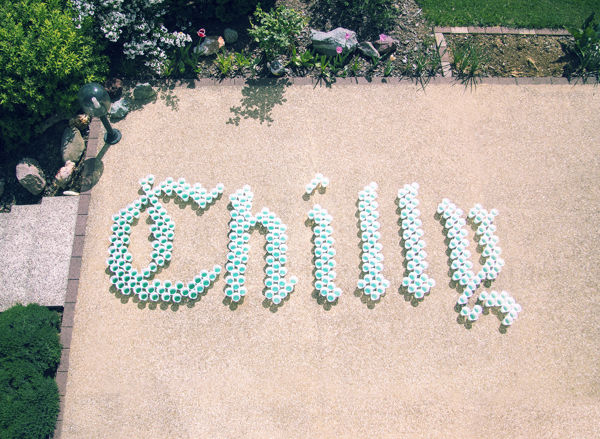Plastic Cup Typography