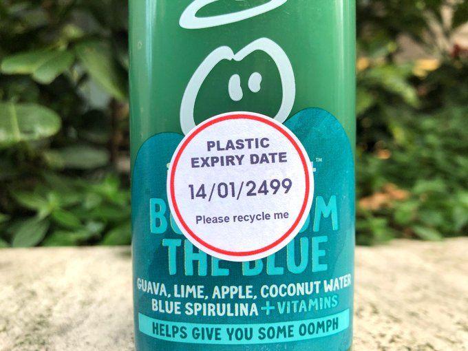 Plastic Expiry Stickers