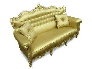 Plastic Fantastic Gold Sofa by Studio JSPR