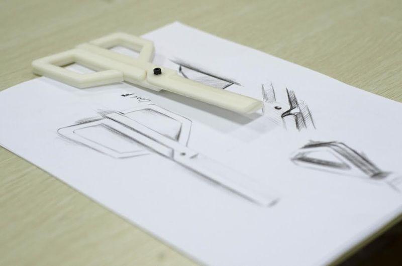 Printed Plastic Scissors