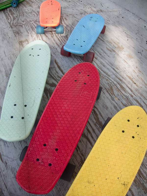 Vintage Deck Campaigns Plastic Skateboards