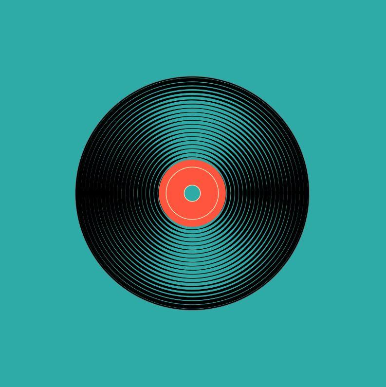 Circular Plastic Vinyl Records