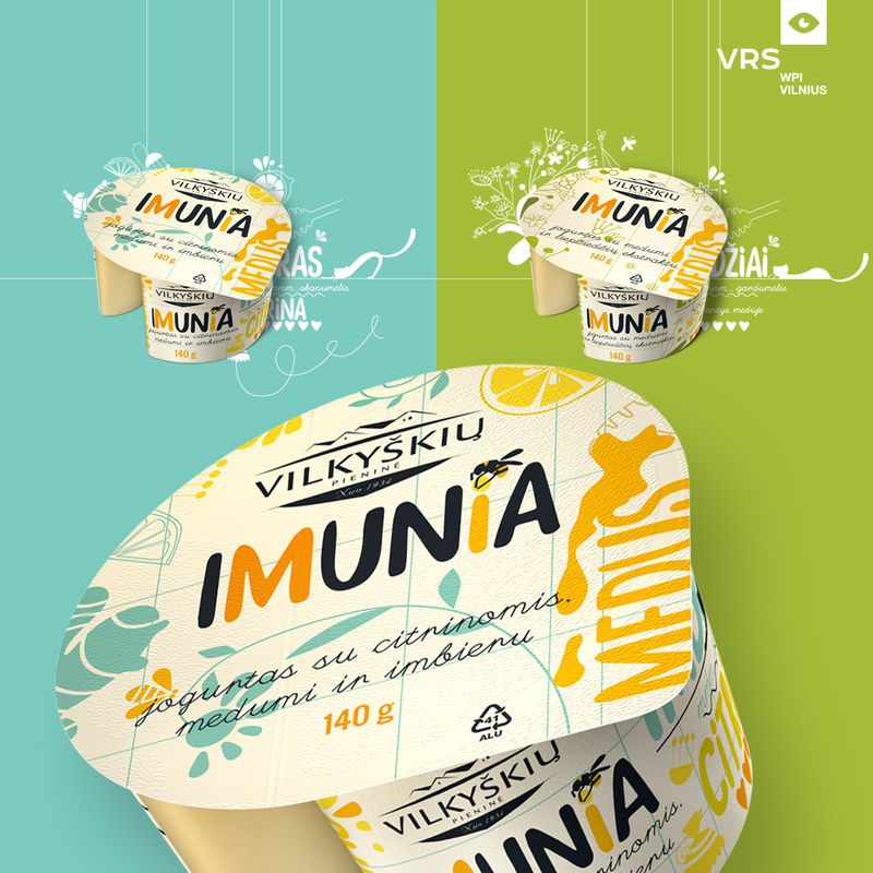 Herbal Yogurt Branding