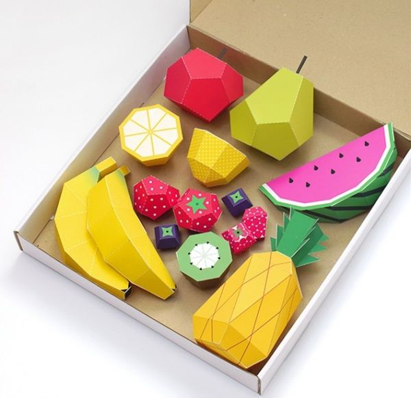 3d paper fruit craft diy paper produce projects play fruit by mr printables 3299