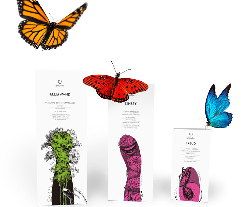 Whimsical Erotic Toy Packaging