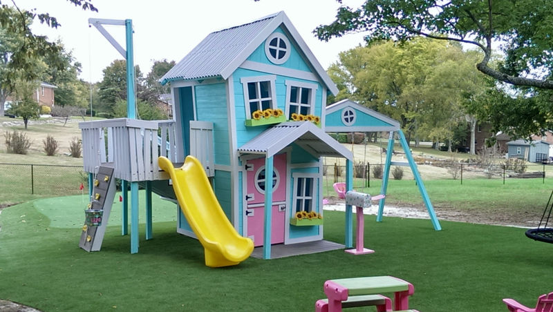 Whimsical outdoor playhouses playhouse for kids for Kids outdoor playhouse