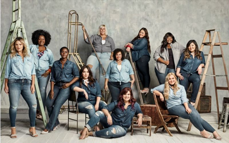 Body-Positive Denim Ads