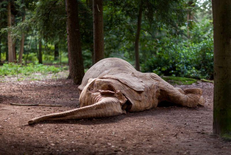 Poached Elephant Sculptures