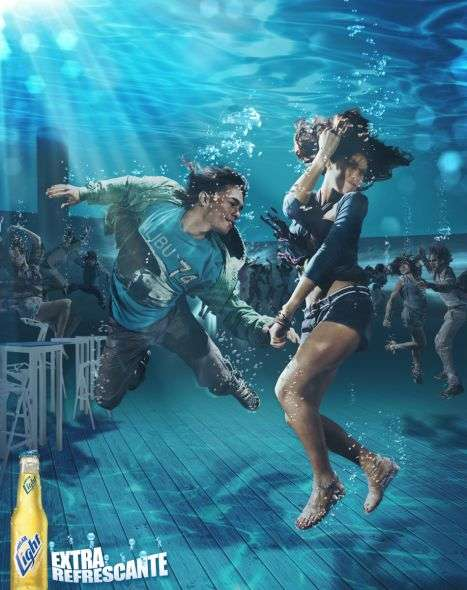 Submerged Beer Ads