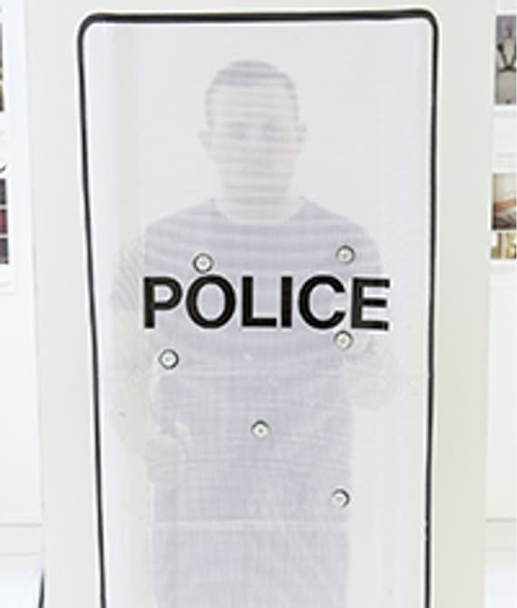Perforated Police Shields