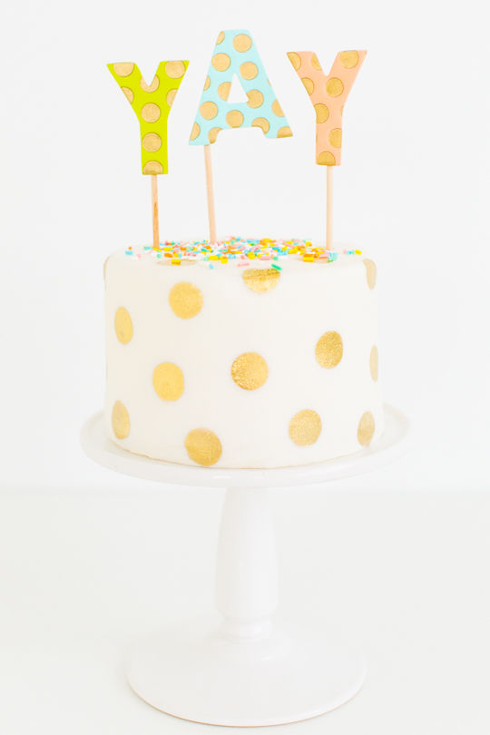 Cheerful Polka Dot Cakes