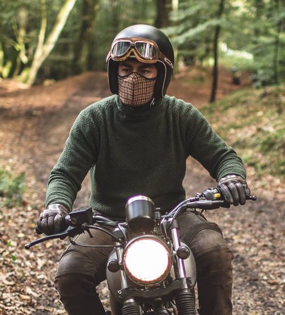 Stylish Cyclist Breathing Masks