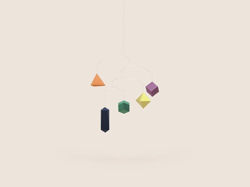 Modernist Geometric Mobiles