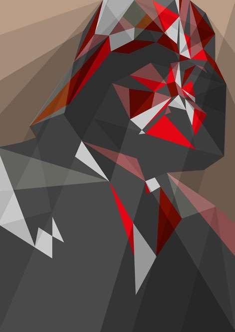 Polygonal Sci-Fi Illustrations