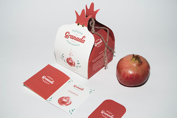 Graphic Pomegranate Packaging
