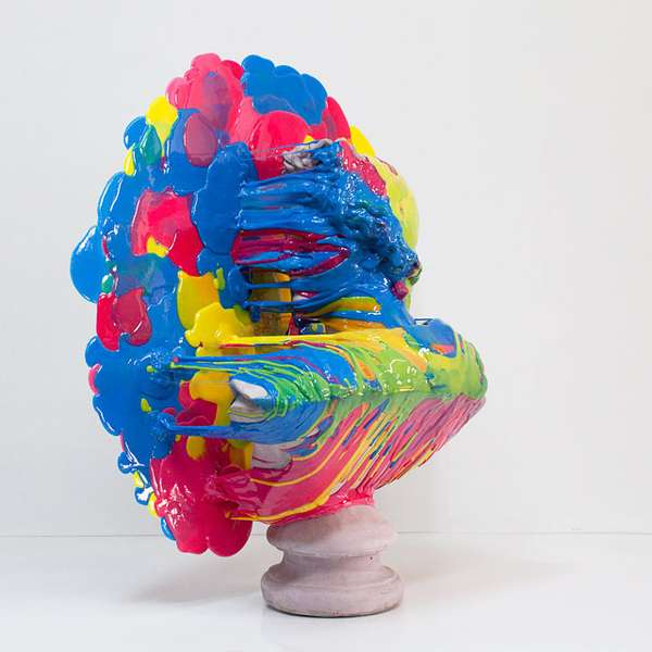 Plastic-Splattered Busts