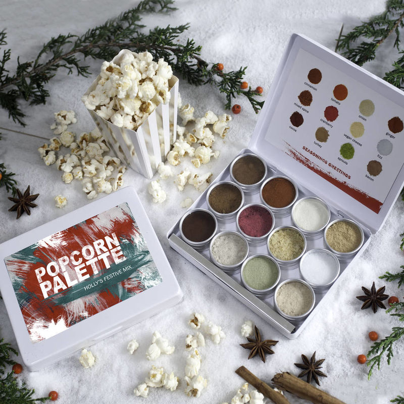 Christmas Popcorn Tins