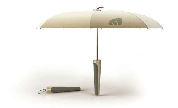 Handgrip-Stored Parasols