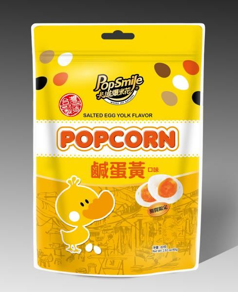 Yolk-Flavored Popcorn Snacks