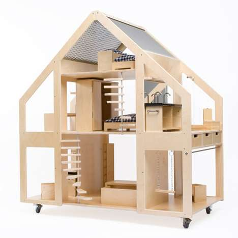 Chic contemporary doll houses poppenvilla dolls villa for Big modern dollhouse