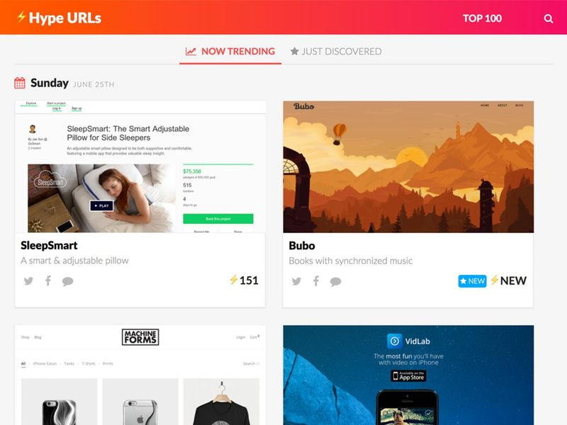 Virality-Tracking Websites