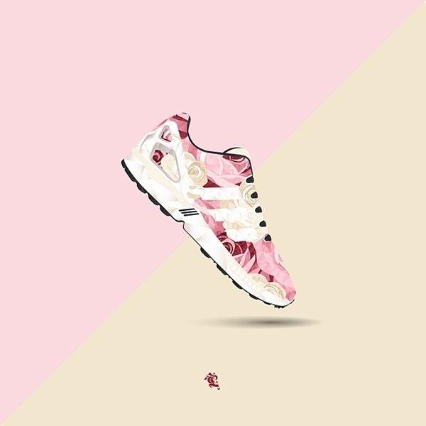 Polygonal Sneaker Illustrations