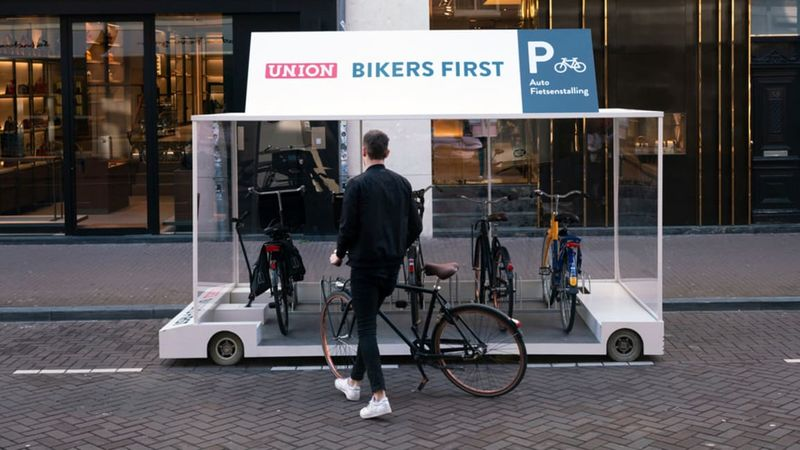 Pop-Up Bike Racks