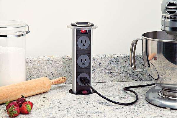 pop up electrical outlet for kitchen island disappearing electrical outlets pop up outlet 9736