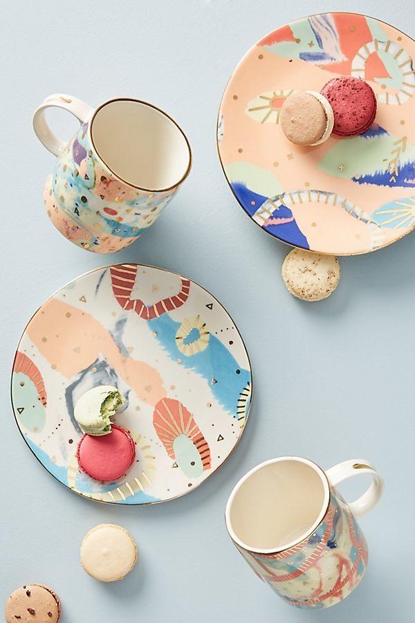 Kaleidoscopic Porcelain Dishware