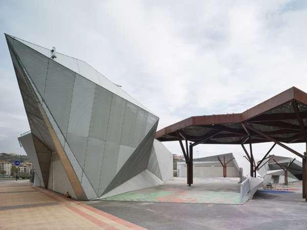 Angular Sci-Fi Pavilions