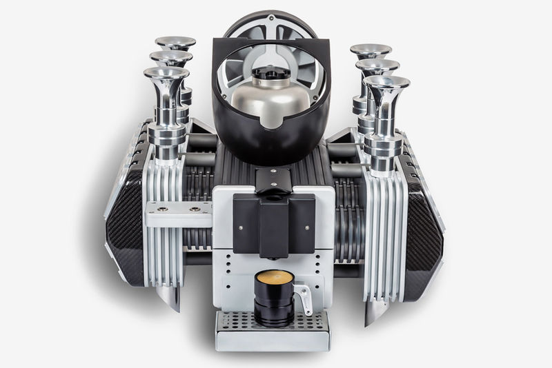 Iconic Engine-Inspired Coffee Makers
