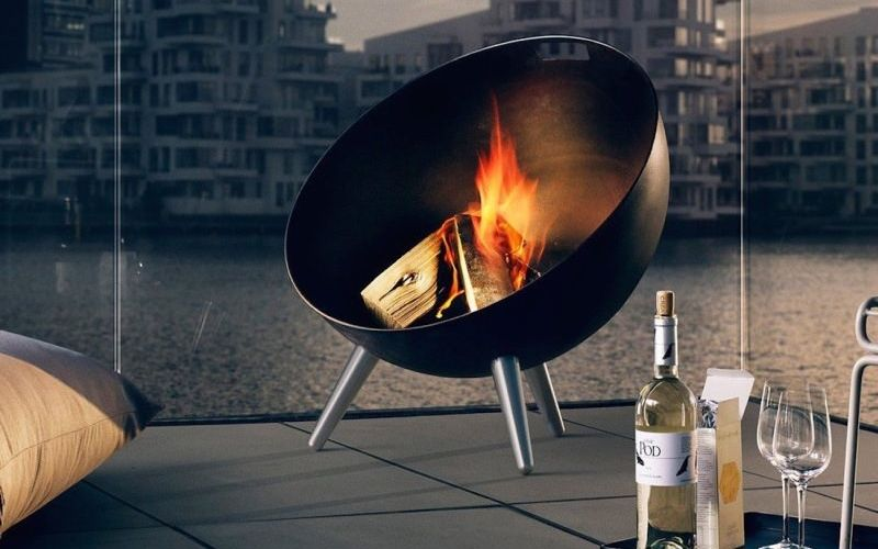 Modern Portable Fireplaces portable fire pit