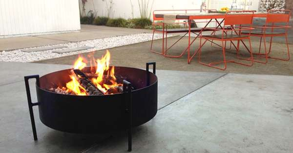 Small Portable Outdoor Fire Pit : Backyard fire rings portable