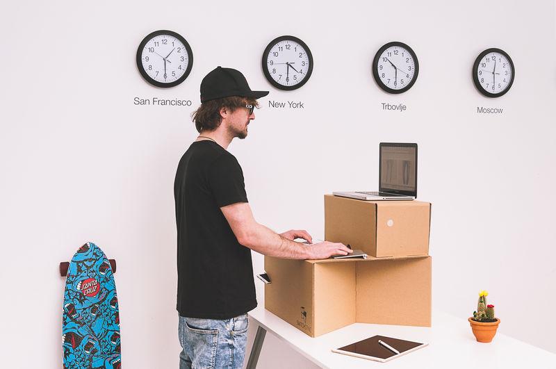 Cardboard Standing Desks Home Design Ideas
