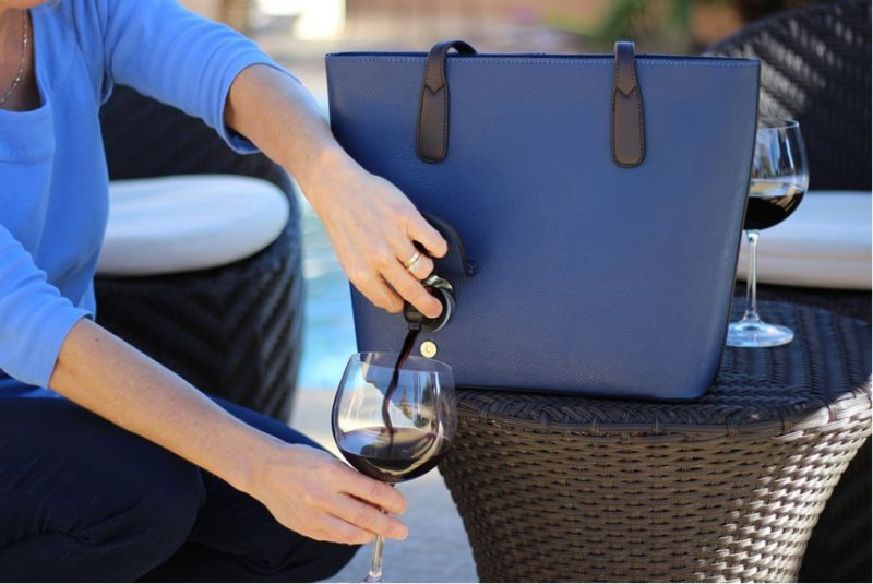 Wine-Dispensing Handbags