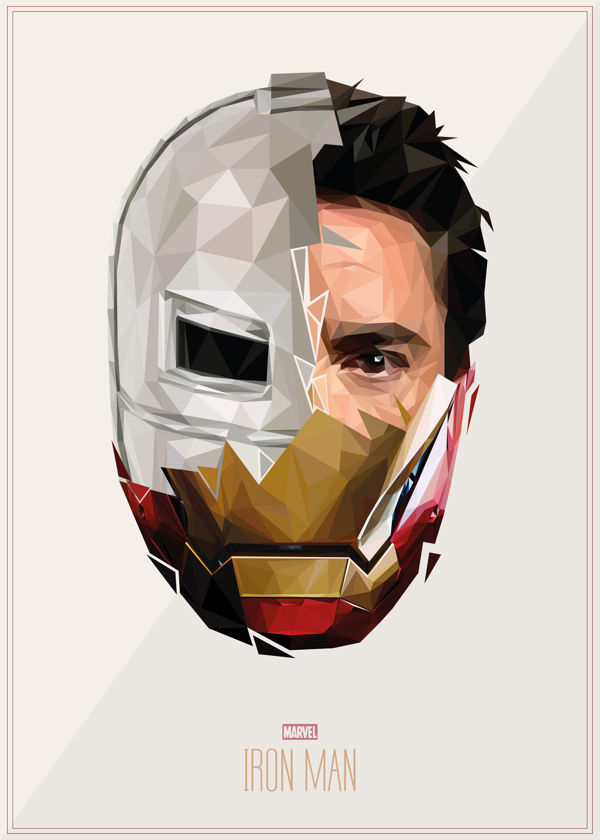Geometric Superhero Portraits