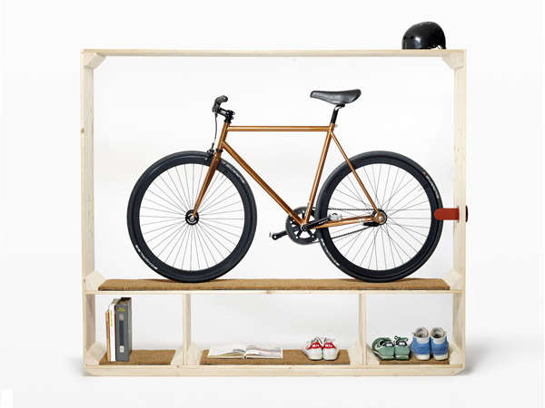 Sleek Cycle-Displaying Shelves