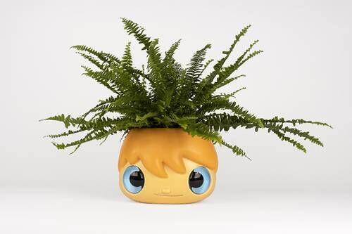 Playful Cartoonish Floral Pots