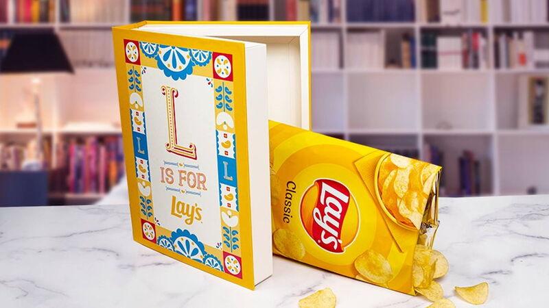 Book-Shaped Potato Chip Boxes