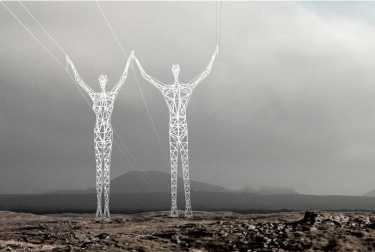 Electricity-Carrying Sculptures