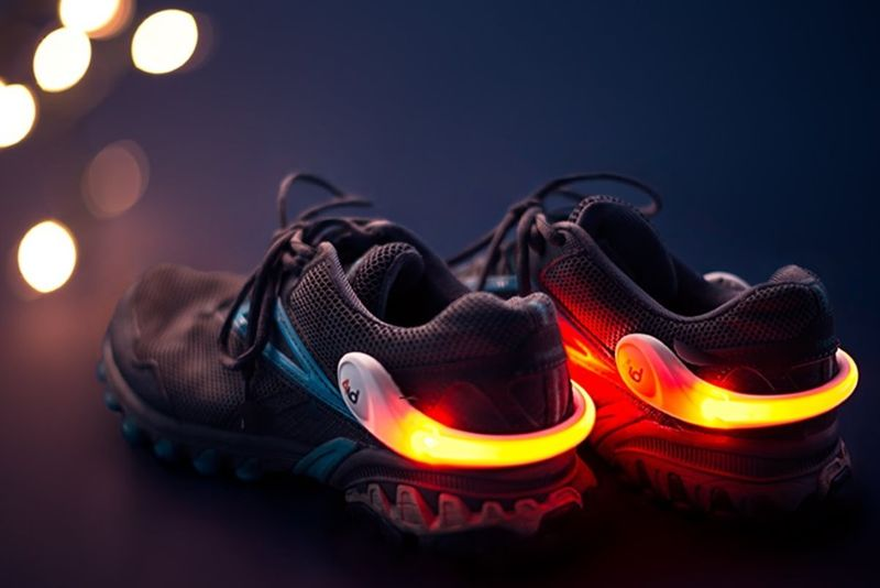 Shoe-Attached Safety Lights
