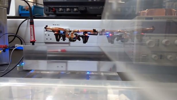 Wirelessly Powered Drones