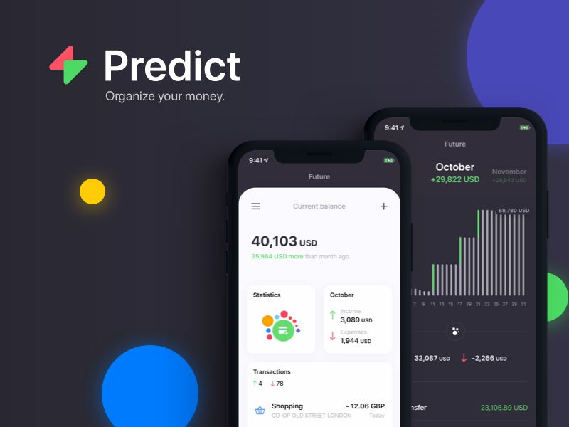 Data-Based Prediction Finance Apps