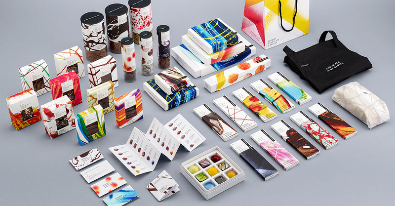 Abstract Art Chocolate Branding