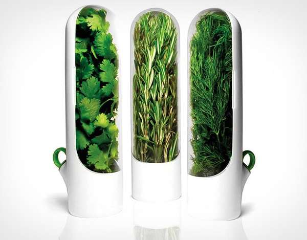 Sleek Vertical Herb Dispensers