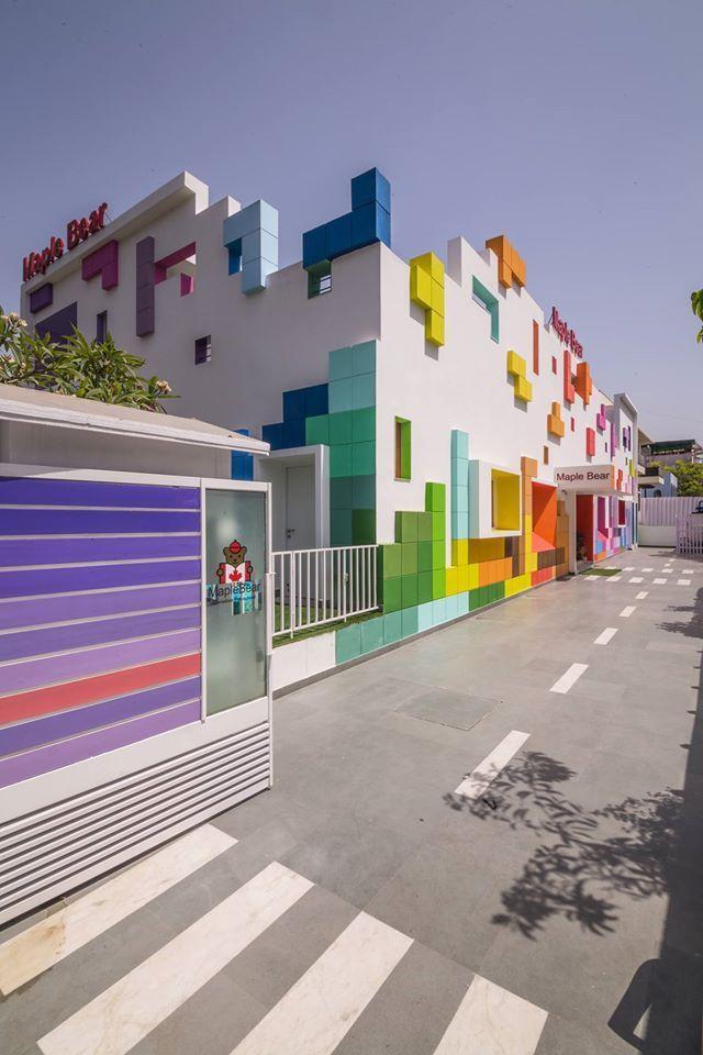 Colorblocked Preschool Designs
