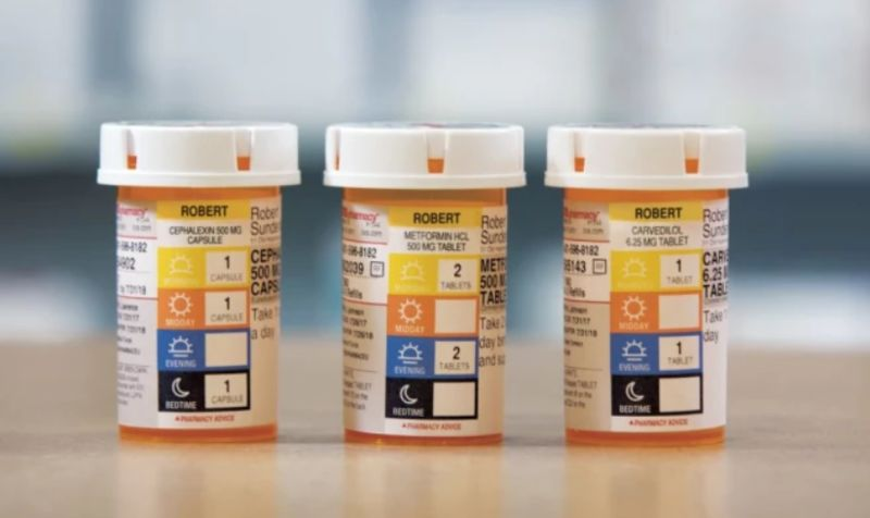 Comprehensive Prescription Bottle Labels