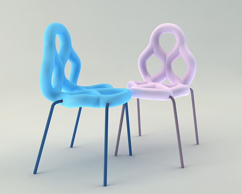 Colorful Pretzel Chairs