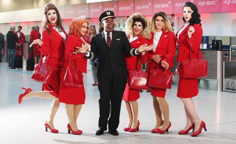 Celebratory LGBTQ-Staffed Flights