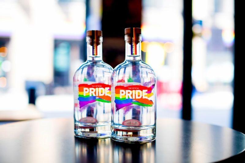 Celebratory British LGBT Gins